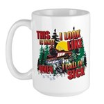 Snowmobiling is Life Live IT Large Mug