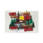 Snowmobiling is Life Live IT Rectangle Magnet (100