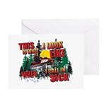 Snowmobiling is Life Live IT Greeting Cards (Pk of