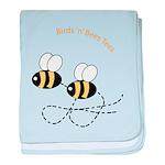 Twin Bees Flying baby blanket