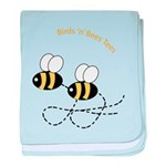 Twin Bees Flying baby blanket