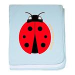Ladybug baby blanket