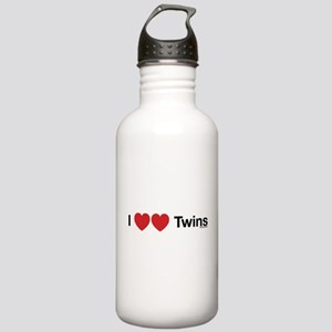 I Love Twins Stainless Water Bottle 1.0L