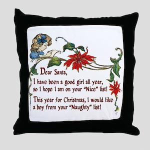 Naughty boys for Christmas - Throw Pillow