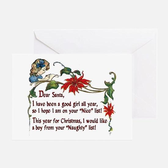 Naughty boys for Christmas - Greeting Card