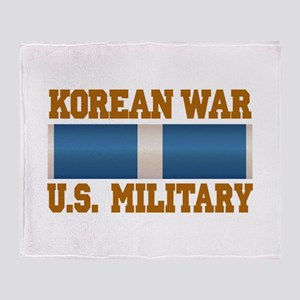 Korean War Service Ribbon Throw Blanket