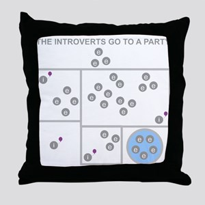 The Introverts Go To a Party Throw Pillow