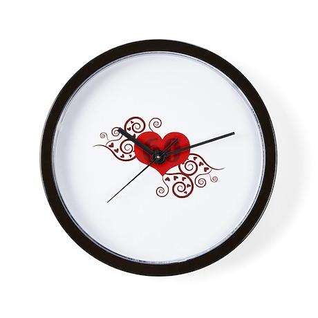 60th Birthday Fancy Heart Wall Clock