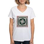 Christmas Stitches Women's V-Neck T-Shirt