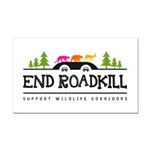 End Roadkill Multicolor Rectangle Car Magnet