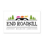 End Roadkill Multicolor Rectangle Car Magnet