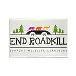 End Roadkill Multicolor Rectangle Fridge Magnets