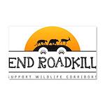 End Roadkill Orange Sun Car Magnet 20 X 12
