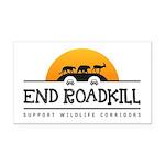 End Roadkill Orange Sun Rectangle Car Magnet