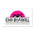 End Roadkill Pink Sun Car Magnet 20 X 12