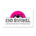 End Roadkill Pink Sun Car Magnet 20 X 12