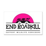 End Roadkill Pink Sun Rectangle Car Magnet