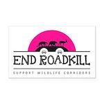End Roadkill Pink Sun Rectangle Car Magnet