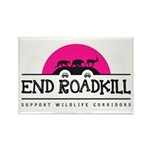 End Roadkill Pink Sun Rectangle Fridge Magnets