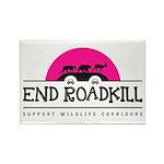 End Roadkill Pink Sun Rectangle Fridge Magnets