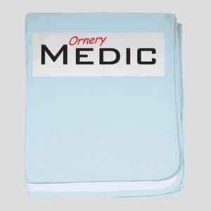 Ornery Medic baby blanket