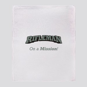 Rifleman - On a Mission Throw Blanket