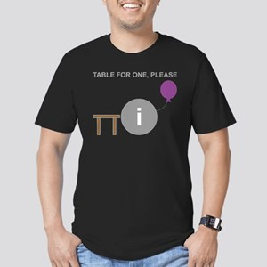 Table for One, Please Men's Fitted T-Shirt (dark)