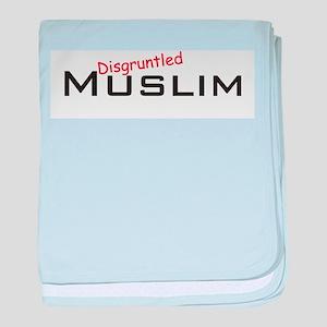 Disgruntled Muslim baby blanket