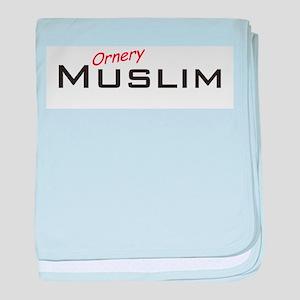 Ornery Muslim baby blanket