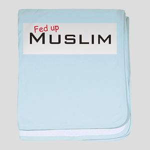 Fed up Muslim baby blanket
