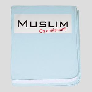 Muslim / Mission! baby blanket