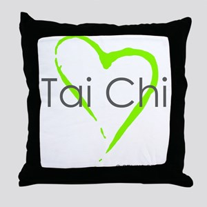 """Tai Chi Heart"" Throw Pillow"