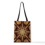 Hardwood Sunburst Polyester Tote Bag