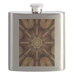 Hardwood Sunburst Flask