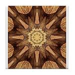 Hardwood Sunburst Tile Coaster
