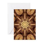 Hardwood Sunburst Greeting Cards