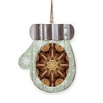 Hardwood Sunburst Mitten Ornament