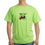 Heart a Book - Panda Green T-Shirt