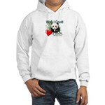 Heart a Book - Panda Hooded Sweatshirt
