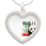 Heart a Book - Panda Silver Heart Necklace