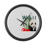 Heart a Book - Panda Large Wall Clock