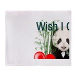 Heart a Book - Panda Throw Blanket