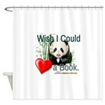 Heart a Book - Panda Shower Curtain