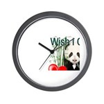 Heart a Book - Panda Wall Clock