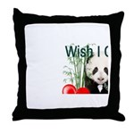 Heart a Book - Panda Throw Pillow