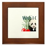 Heart a Book - Panda Framed Tile