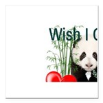 Heart a Book - Panda Square Car Magnet 3