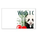 Heart a Book - Panda Sticker (Rectangle 10 pk)