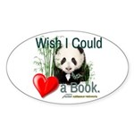Heart a Book - Panda Sticker (Oval 10 pk)