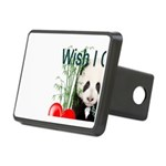 Heart a Book - Panda Rectangular Hitch Cover